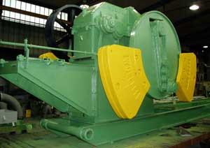 grün-gelb lackierte Maschine