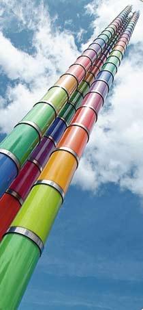 lackierter Turm